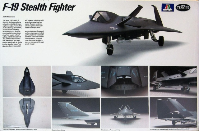 Testors F-19 Stealth Fighter Concept | Scale Model Wings